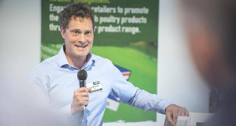 NFU poultry board chairman Thomas Wornham apprenticeship launch Pig & Poultry 2018_54053