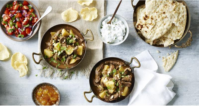Speedy beef curry