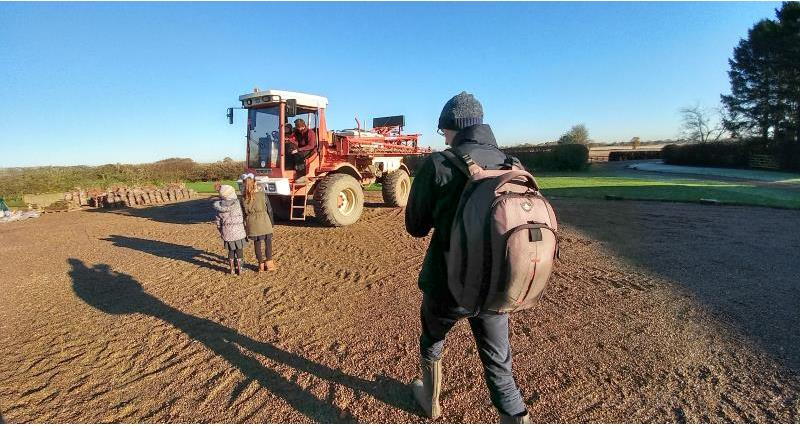 science farm nov 17 filming with tractor_49317