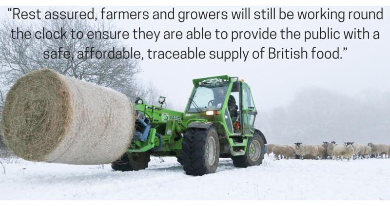 tractor, haybale, sheep in snow canva quote composite_52106
