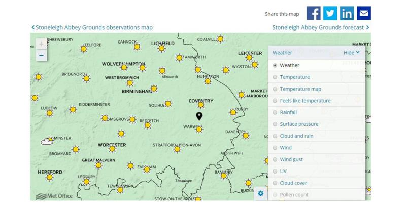 met office interactive weather map_51030