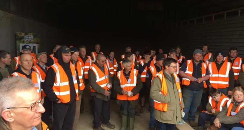 Farm safety event at James Walton's farm Shipston_53123
