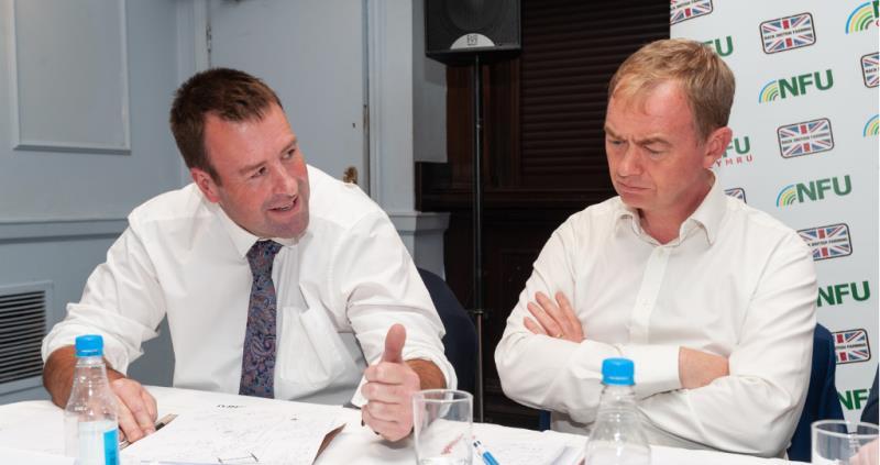 Stuart Roberts and Tim Farron MP at Lib Dem party conference fringe event_57484
