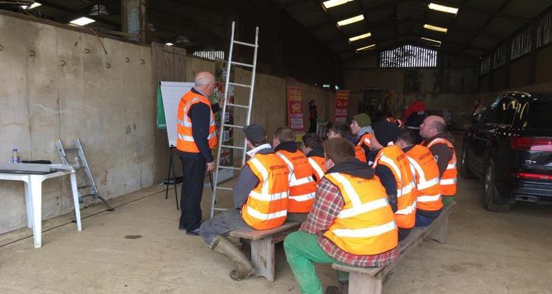 Farm safety event at James Walton's farm Shipston_53126