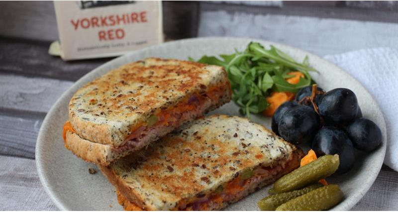 Ploughman's toastie with Yorkshire red cheese