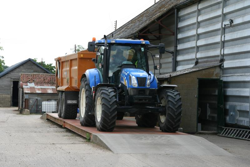 Tractor on farm weighbridge _24238
