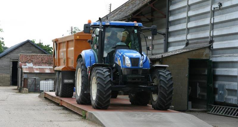 Tractor on farm weighbridge _24238
