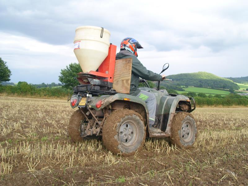Quad bike slug pellet application_17094