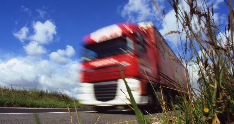Lorry on country road_11387