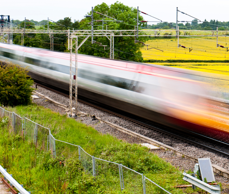 High speed train in countryside_15688