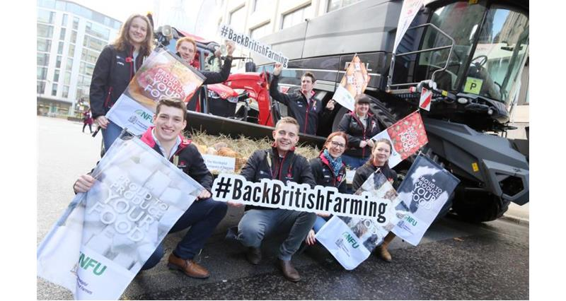 #BackBritishFarming parades around London