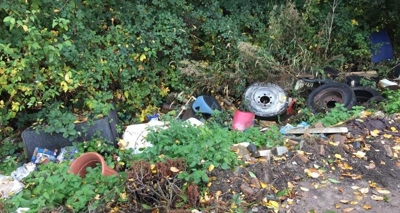 Fly tipping in Heysham Lancashire_58476