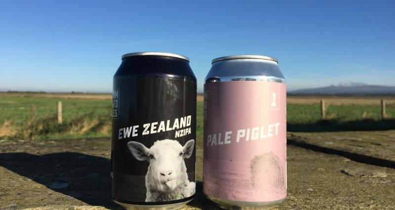 Two canned beers from on farm brewery - Farm Yard Ales_48296